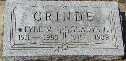 GRINDE, GLADYS L. - Minnehaha County, South Dakota   GLADYS L. GRINDE - South Dakota Gravestone Photos