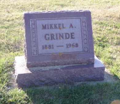 GRINDE, MIKKEL A. - Minnehaha County, South Dakota | MIKKEL A. GRINDE - South Dakota Gravestone Photos