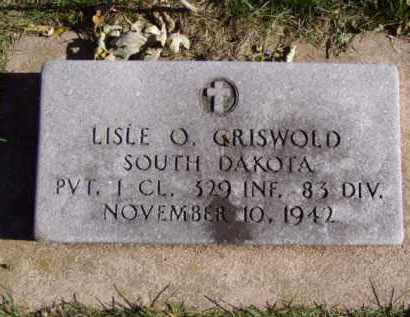 GRISWOLD, LISLE O. - Minnehaha County, South Dakota   LISLE O. GRISWOLD - South Dakota Gravestone Photos