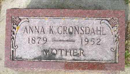 GRONSDAHL, ANNA K. - Minnehaha County, South Dakota | ANNA K. GRONSDAHL - South Dakota Gravestone Photos