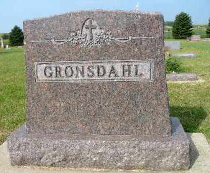 GRONSDAHL, FAMILY MARKER - Minnehaha County, South Dakota   FAMILY MARKER GRONSDAHL - South Dakota Gravestone Photos