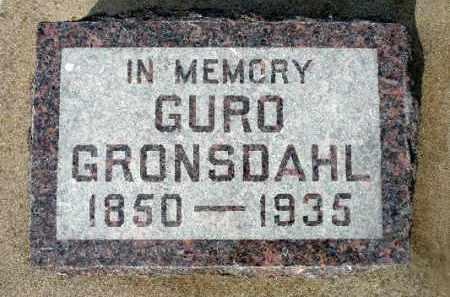 GRONSDAHL, GURO - Minnehaha County, South Dakota   GURO GRONSDAHL - South Dakota Gravestone Photos