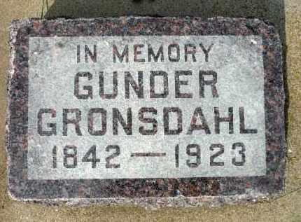 GRONSDAHL, GUNDER - Minnehaha County, South Dakota | GUNDER GRONSDAHL - South Dakota Gravestone Photos