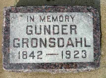 GRONSDAHL, GUNDER - Minnehaha County, South Dakota | GUNDER GRONSDAHL - South Dakota Gravestone Photos