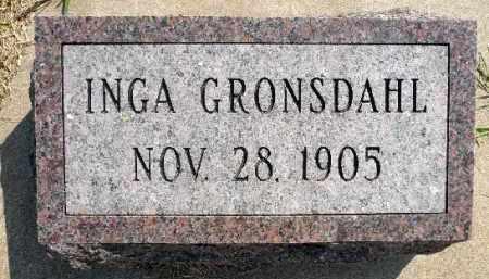 GRONSDAHL, INGA - Minnehaha County, South Dakota | INGA GRONSDAHL - South Dakota Gravestone Photos