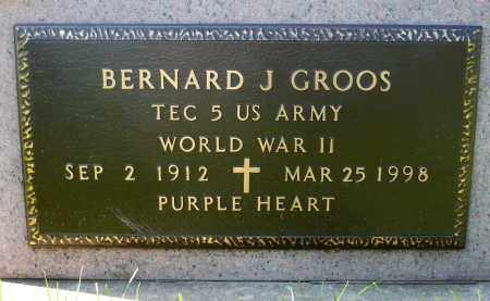 GROOS, BERNARD J. (WWII) - Minnehaha County, South Dakota | BERNARD J. (WWII) GROOS - South Dakota Gravestone Photos
