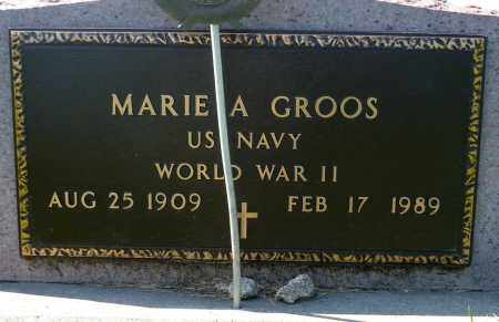 GROOS, MARIE A. (WWII) - Minnehaha County, South Dakota   MARIE A. (WWII) GROOS - South Dakota Gravestone Photos