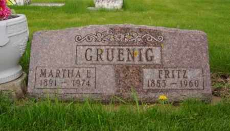 GRUENIG, MARTHA E. - Minnehaha County, South Dakota | MARTHA E. GRUENIG - South Dakota Gravestone Photos