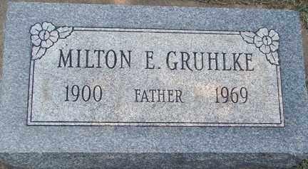 GRUHLKE, MILTON E. - Minnehaha County, South Dakota | MILTON E. GRUHLKE - South Dakota Gravestone Photos