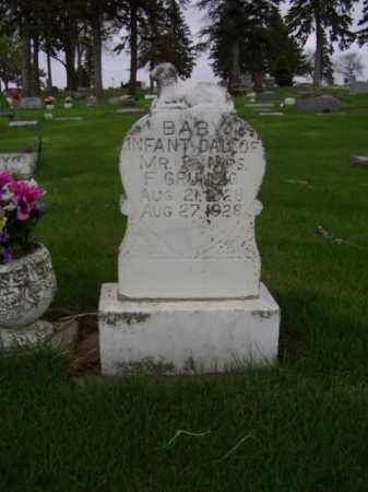 GRUNEIG, INFANT DAUGHTER - Minnehaha County, South Dakota | INFANT DAUGHTER GRUNEIG - South Dakota Gravestone Photos