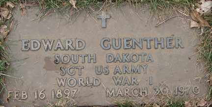 GUENTHER, EDWARD (WWI) - Minnehaha County, South Dakota | EDWARD (WWI) GUENTHER - South Dakota Gravestone Photos