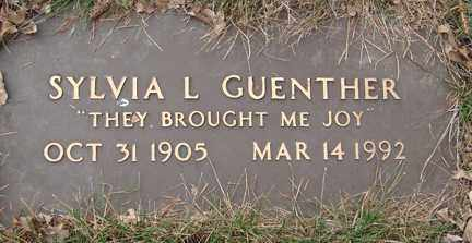 GUENTHER, SYLVIA L. - Minnehaha County, South Dakota | SYLVIA L. GUENTHER - South Dakota Gravestone Photos