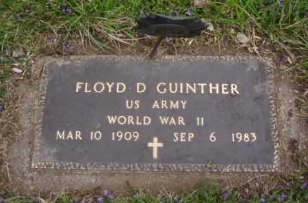 GUINTHER, FLOYD D. - Minnehaha County, South Dakota   FLOYD D. GUINTHER - South Dakota Gravestone Photos