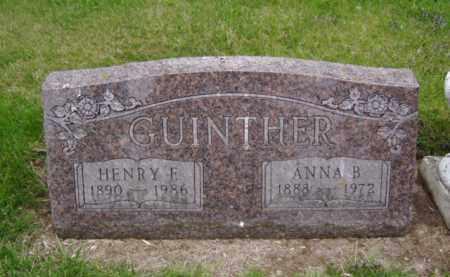 GUINTHER, ANNA B. - Minnehaha County, South Dakota | ANNA B. GUINTHER - South Dakota Gravestone Photos
