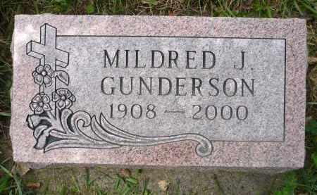 GUNDERSON, MILDRED J. - Minnehaha County, South Dakota | MILDRED J. GUNDERSON - South Dakota Gravestone Photos