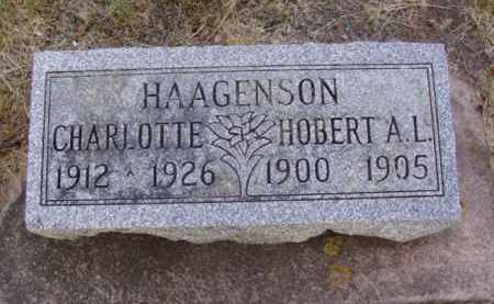 HAAGENSON, CHARLOTTE - Minnehaha County, South Dakota | CHARLOTTE HAAGENSON - South Dakota Gravestone Photos