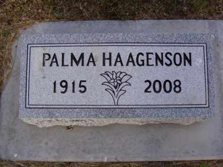 HAAGENSON, PALMA ADELINE ISABELLE - Minnehaha County, South Dakota   PALMA ADELINE ISABELLE HAAGENSON - South Dakota Gravestone Photos