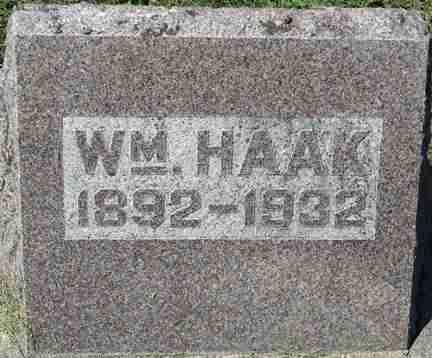HAAK, WILLIAM - Minnehaha County, South Dakota   WILLIAM HAAK - South Dakota Gravestone Photos