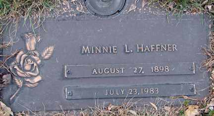 HAFFNER, MINNIE L. - Minnehaha County, South Dakota | MINNIE L. HAFFNER - South Dakota Gravestone Photos