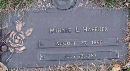 HAFFNER, MINNIE L. - Minnehaha County, South Dakota | MINNIE L. HAFFNER - South Dakota Gravestone Photos