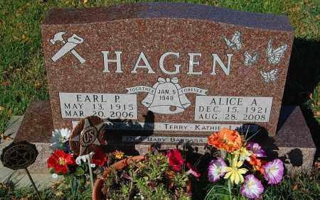 HAGEN, ALICE A. - Minnehaha County, South Dakota   ALICE A. HAGEN - South Dakota Gravestone Photos