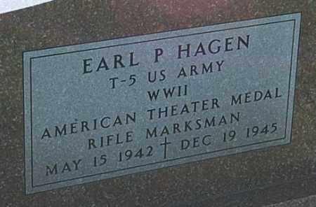 HAGEN, EARL P. (WW II) - Minnehaha County, South Dakota | EARL P. (WW II) HAGEN - South Dakota Gravestone Photos