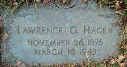 HAGEN, LAWRENCE G. - Minnehaha County, South Dakota | LAWRENCE G. HAGEN - South Dakota Gravestone Photos