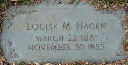 HAGEN, LOUISE M. - Minnehaha County, South Dakota | LOUISE M. HAGEN - South Dakota Gravestone Photos