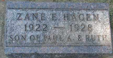 HAGEN, ZANE E. - Minnehaha County, South Dakota   ZANE E. HAGEN - South Dakota Gravestone Photos