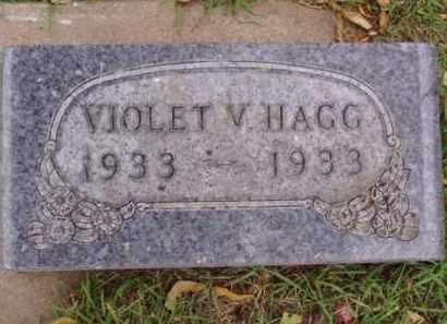 HAGG, VIOLET V. - Minnehaha County, South Dakota   VIOLET V. HAGG - South Dakota Gravestone Photos