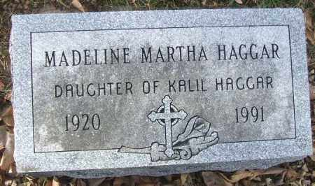 HAGGAR, MADELINE MARTHA - Minnehaha County, South Dakota | MADELINE MARTHA HAGGAR - South Dakota Gravestone Photos
