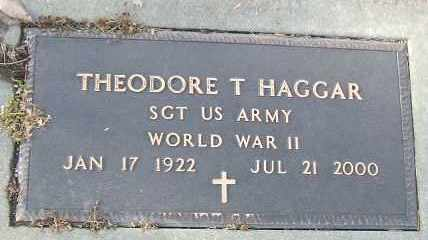 HAGGAR, THEODORE T. (WWII) - Minnehaha County, South Dakota | THEODORE T. (WWII) HAGGAR - South Dakota Gravestone Photos