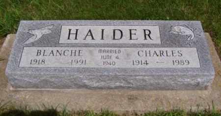 HAIDER, CHARLES - Minnehaha County, South Dakota | CHARLES HAIDER - South Dakota Gravestone Photos