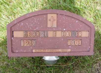 HAIDER, GEORGE EDWARD - Minnehaha County, South Dakota | GEORGE EDWARD HAIDER - South Dakota Gravestone Photos