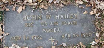 HAILEY, JOHN W. (KOREA) - Minnehaha County, South Dakota | JOHN W. (KOREA) HAILEY - South Dakota Gravestone Photos