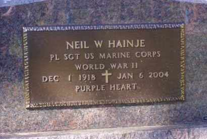 "HAINJE, CORNELIUS ""NEIL"" W. - Minnehaha County, South Dakota   CORNELIUS ""NEIL"" W. HAINJE - South Dakota Gravestone Photos"