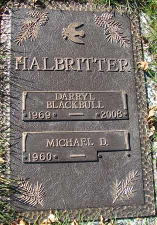 HALBRITTER, DARRYL BLACKBULL - Minnehaha County, South Dakota   DARRYL BLACKBULL HALBRITTER - South Dakota Gravestone Photos