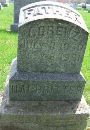 HALBRITTER, LORENZ - Minnehaha County, South Dakota | LORENZ HALBRITTER - South Dakota Gravestone Photos