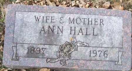 HALL, ANN - Minnehaha County, South Dakota   ANN HALL - South Dakota Gravestone Photos