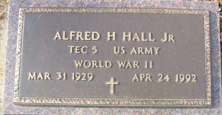 HALL, ALFRED H. JR. (WWII) - Minnehaha County, South Dakota | ALFRED H. JR. (WWII) HALL - South Dakota Gravestone Photos