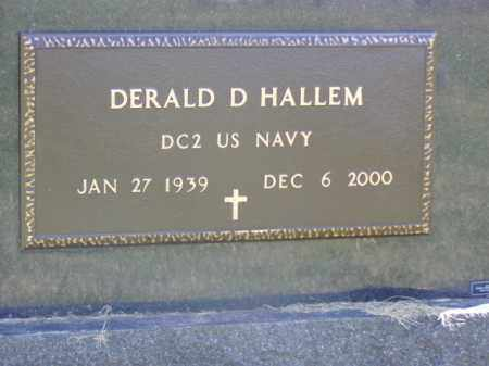 HALLEM, DERALD D. - Minnehaha County, South Dakota | DERALD D. HALLEM - South Dakota Gravestone Photos