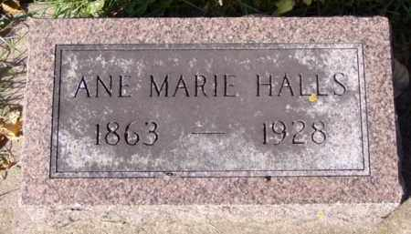 HALLS, ANE MARIE - Minnehaha County, South Dakota | ANE MARIE HALLS - South Dakota Gravestone Photos
