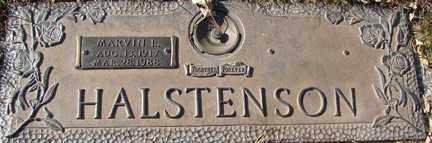 HALSTENSON, MARVIN I. - Minnehaha County, South Dakota   MARVIN I. HALSTENSON - South Dakota Gravestone Photos