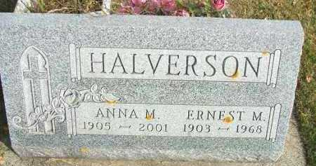 HALVERSON, ERNEST M. - Minnehaha County, South Dakota | ERNEST M. HALVERSON - South Dakota Gravestone Photos