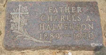 HALVERSON, CHARLES A. - Minnehaha County, South Dakota   CHARLES A. HALVERSON - South Dakota Gravestone Photos