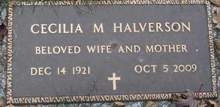 HALVERSON, CECILIA M. - Minnehaha County, South Dakota   CECILIA M. HALVERSON - South Dakota Gravestone Photos