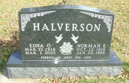 HALVERSON, EDNA O. - Minnehaha County, South Dakota | EDNA O. HALVERSON - South Dakota Gravestone Photos