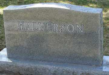 HALVERSON, FAMILY MARKER - Minnehaha County, South Dakota   FAMILY MARKER HALVERSON - South Dakota Gravestone Photos
