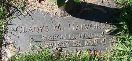HALVERSON, GLADYS M. - Minnehaha County, South Dakota   GLADYS M. HALVERSON - South Dakota Gravestone Photos