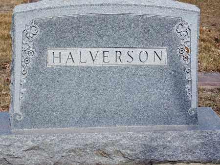 HALVERSON, HEADSTONE - Minnehaha County, South Dakota | HEADSTONE HALVERSON - South Dakota Gravestone Photos